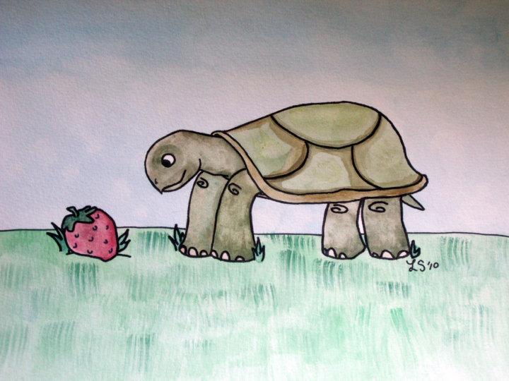 Slowsky Finds a Strawberry