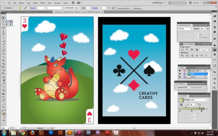 Creative Cards Front and Back