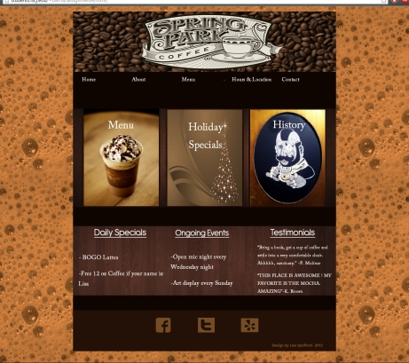Website 2- Coffee Shop
