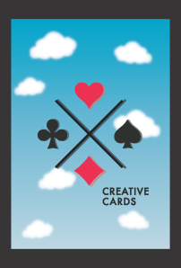 vector creative cards back