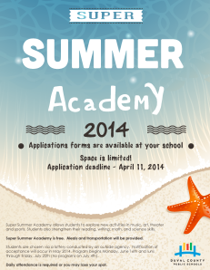 supersummeracademy flyer