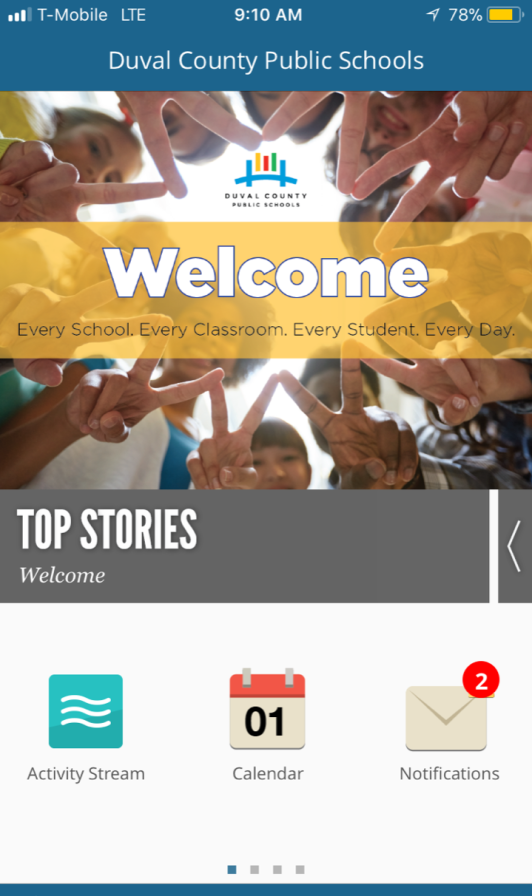 Mobile App layout design for DCPS